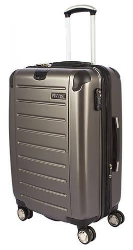 Большой чемодан из поликарбоната, 4-колесный 98/127 л. PUCCINI PC016 8854/5 антрацит