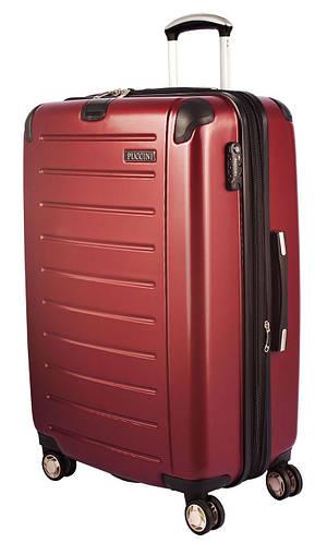 4-колесный пластиковый чемодан, большой 98/127 л. PUCCINI PC016 8854/31 бордо