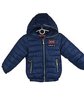 Куртка  для мальчиков,  демисезонная 6-10 лет цвет синий