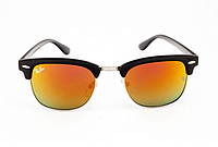 Очки Ray Ban Clubmaster Black-Silver-Yellow 7488