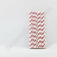 Набор бумажных трубочек в красный горох, 25 шт.