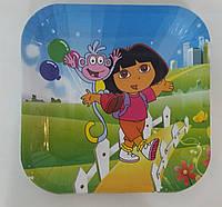 Бумажные тарелки Даша путешественница