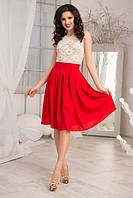 Платье женское с красной юбкой 9481