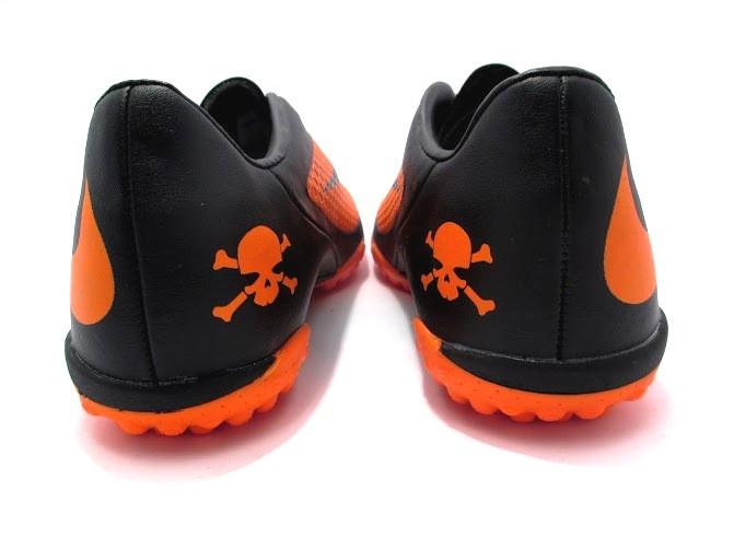 Футбольные сороконожки Nike HyperVenom Phelon TF Black/ Orange