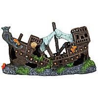 Декорация для аквариума Trixie (Трикси) Разбитый корабль, 23 см