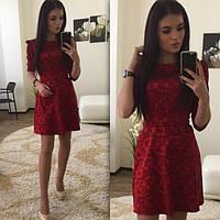 Очаровательное платье из жакарда