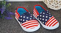 Детские мокасины американский флаг 21-25 размер