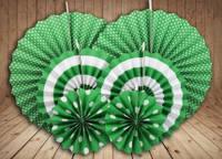 Набор бумажных вертушек для декора 6 шт., зеленые