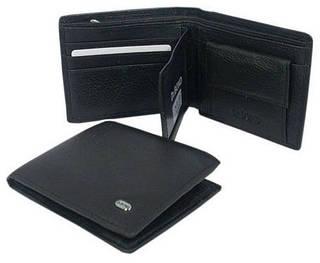 Качественное кожаное мужское портмоне dr.Bond M9 black черный