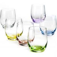 Набор низких стаканов для воды Bohemia Rainbow 300мл (6855B )-6шт