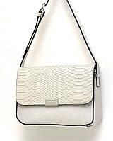 Стильная  сумочка через плече David Jones, бело-серая
