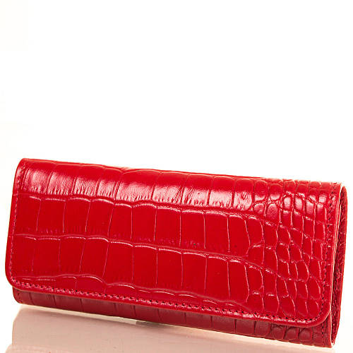 Стильная женская ключница из натуральной кожи KARLET SHI432-1KR красный