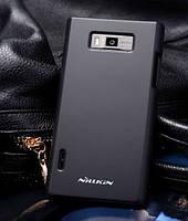 Чехол-бампер и плёнка NILLKIN для телефона LG Optimus L7  черный