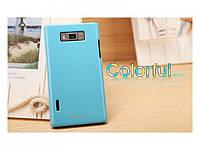 Чехол-бампер и плёнка NILLKIN для телефона LG Optimus L7  синий