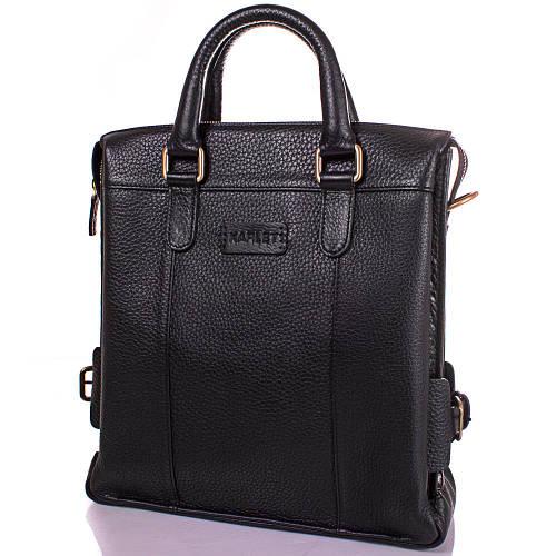 Оригинальная мужская сумка из натуральной кожи KARLET SHI5650-2FL черный