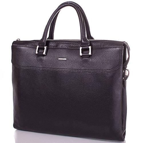 Универсальная мужская сумка с отделением для нетбука из натуральной кожи KARLET SHI5690-2FL черный