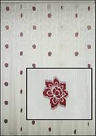 Тюль с узором и цветами в гостиную