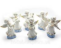 Фигурки Ангелочки музыканты фарфор набор 6 шт