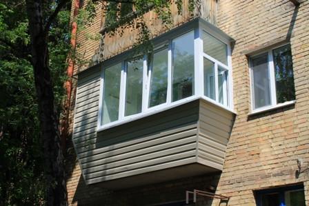 Наружная обшивка балкона // новость балкон, балкон под ключ,.