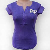 Футболка женская A&F фиолетовая