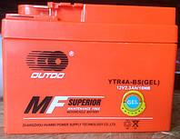 Аккумулятор OUTDO YTR4A-BS(GEL) (таблетка) для Honda