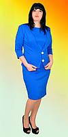 Стильное платье и пиджак прилегающий с нашивными петлями, фото 1