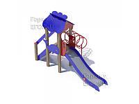 Детская игровая площадка Морская-3 с трубой-лесенкой
