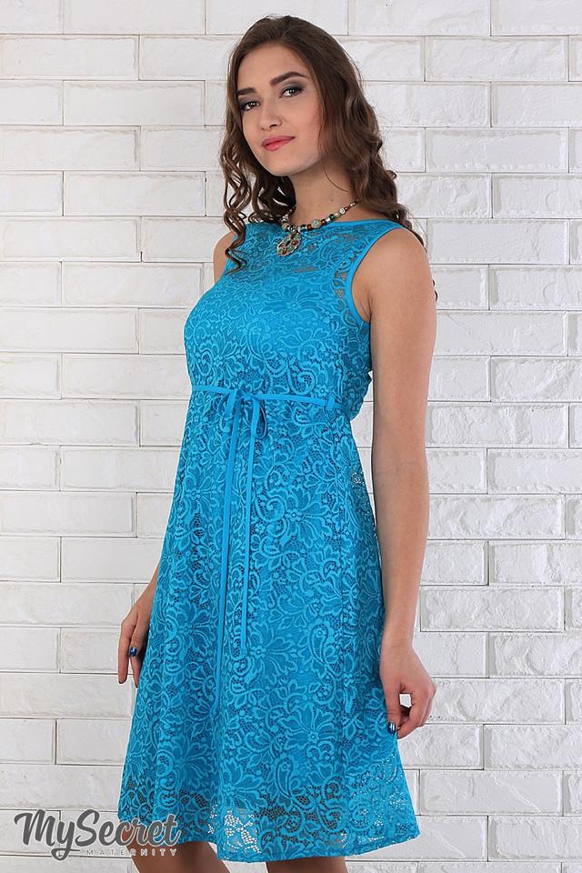 Платье из гипюра для беременных