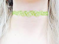 Тату - чокер украшение на шею Салатовый Зеленый