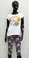 Подрастковая пижама для девочки (футболка и бриджи) Anabel Arto