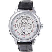 Стильные мужские часы Patek Philippe Sky Moon Silver White