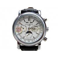 Мужские классические часы Patek Philippe Grand Complications Perpetual Calendar White Silver