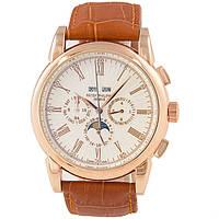 Мужские классические часы Patek Philippe Grand Complications Perpetual Calendar Gold Brown