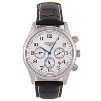 Мужские классические часы Longines Master Collection White Brown