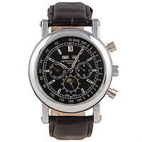 Мужские наручные часы Patek Philippe Grand Complications Perpetual Calendar Black Silver