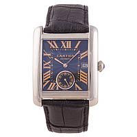 Мужские классические часы Cartier Tortue Silver
