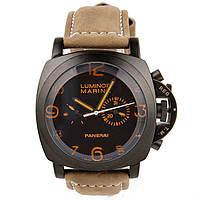 Мужские наручные часы Panerai Luminor Marina Black Brown