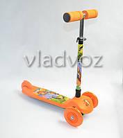 Самокат 4kids Scooter ручка регулируется оранжевый от 3-х лет