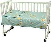 """Постельное белье в кроватку """"Младенец"""" Мишка с шариком Руно"""