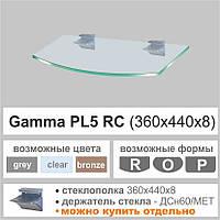Полка стеклянная Commus PL5 RC