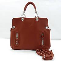 Стильная рыжая женская сумка