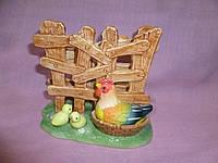 Салфетница фарфоровая Курица наседка 11х12х8 см