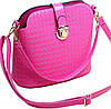 Яркая женская сумка из искусственной кожи Traum 7211-33 розовая