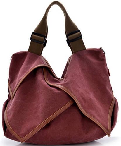 Стильная женская сумка ORIS 7214-02, бургундия