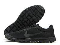 Кроссовки мужские Nike Free Run 3.0 черные (найк фри ран)