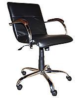 Кресло Samba GTP WOOD хром,винилискожа CZ-3 (Примтекс Плюс)