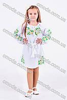 Вышитое платье для девочки Ромашка