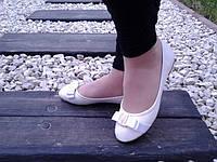 Белые женские балетки