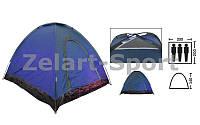 Палатка самораскладывающаяся 3-х местная SY-A-35-BL (р-р 2,0х2,0х1,4м, PL, синий)