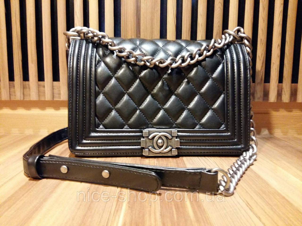 Сумка Chanel flap bag 255 черная люкс качество